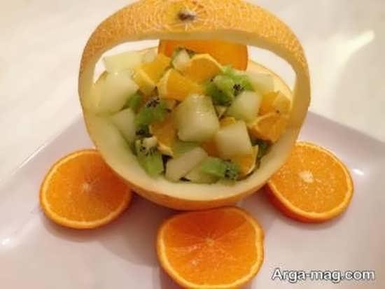 ساخت سبد میوه با طالبی