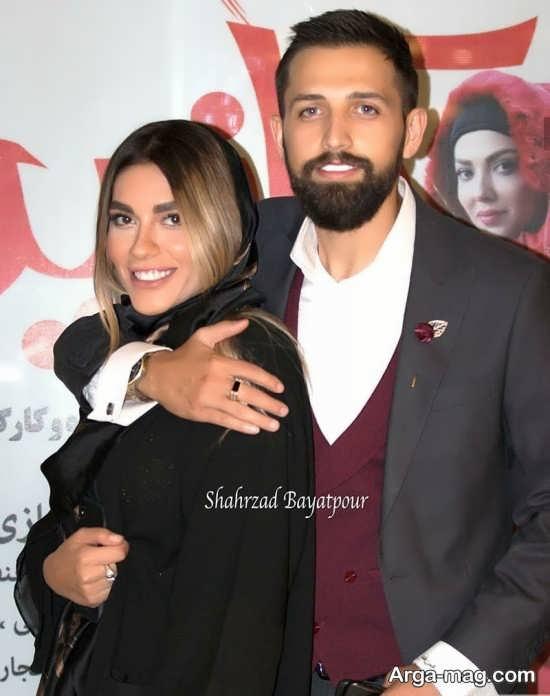 ژست های رمانتیک محسن افشانی و همسرش