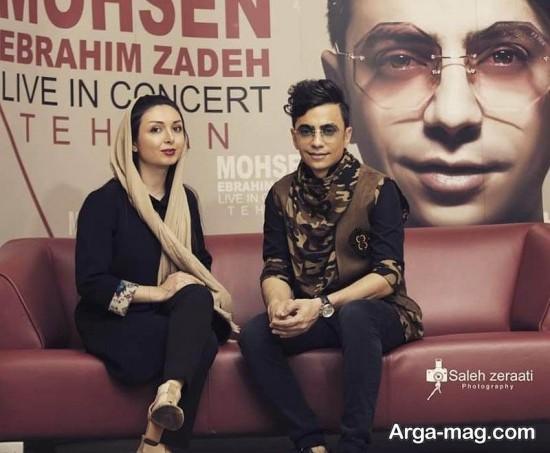 محسن ابراهیم زاده در کنار خانم عکاس