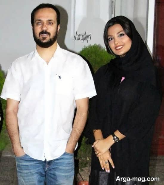 مونا فائض پور و همسرش
