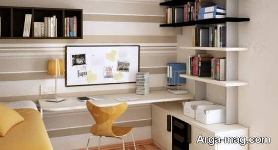 میز کامپیوتر با طراحی ساده