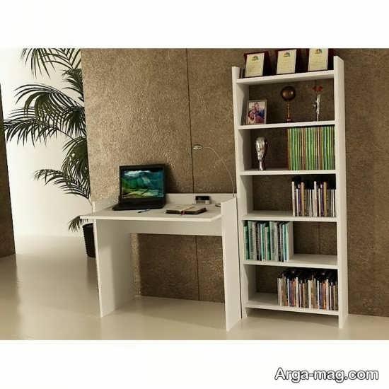 مدل میز کامپیوتر کتابخانه دار