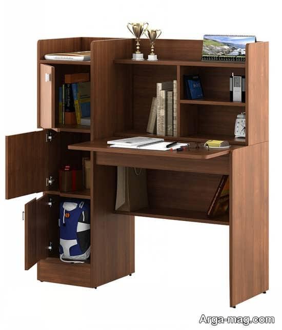 میز چوبی کتابخانه دار