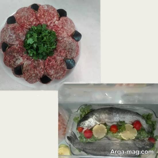 تزیین راحت گوشت یخچال عروس