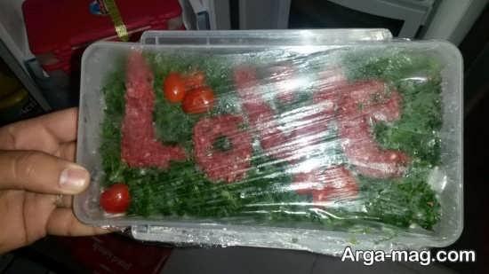 دیزاین گوشت چرخ کرده یخچال عروس