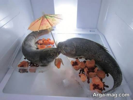 تزیین راحت ماهی یخچال عروس