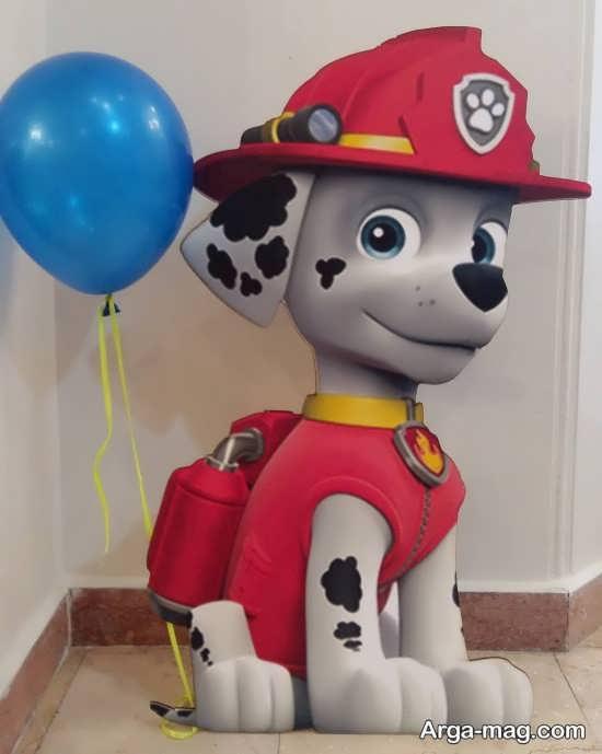 تزیین بادکنک تولد با تم سگ نگهبان