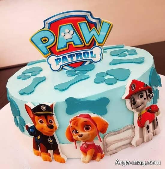 کیک تولد سگ نگهبان کودکانه