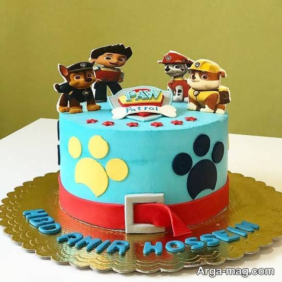 کیک تولد تم سگ نگهبان