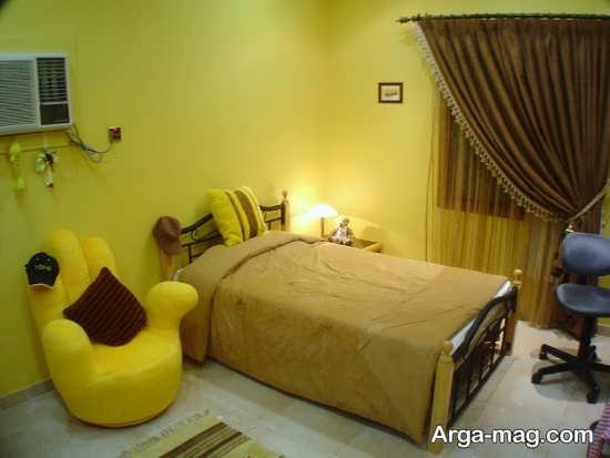 دکوراسیون زیبای اتاق زرد
