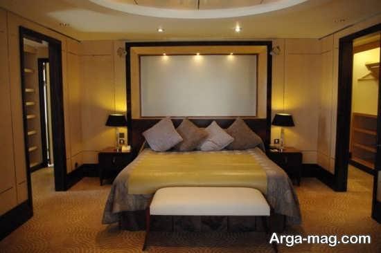 دکوراسیون ترکیب زرد و مشکی در اتاق خواب