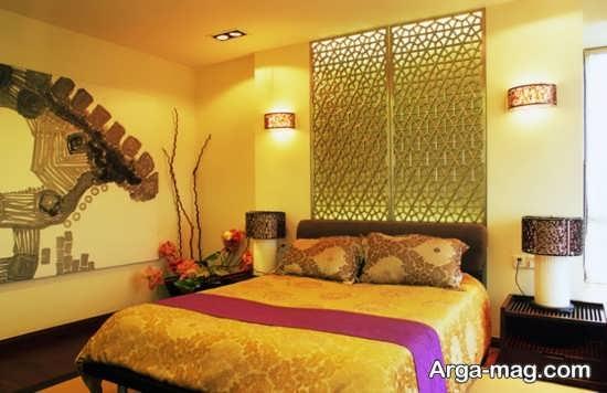 تم طلایی در اتاق خواب عالی