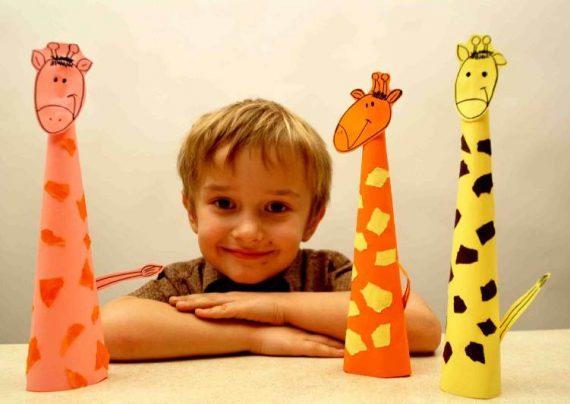 ایده های جالب کاردستی زرافه برای کودکان