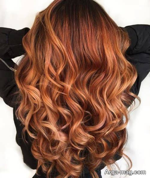 رنگ موی شیک پاییزی