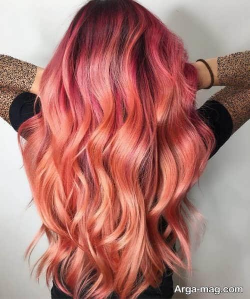 رنگ موی زیبا پاییزی