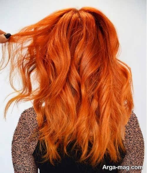 رنگ موی پاییزی زیبا و شیک