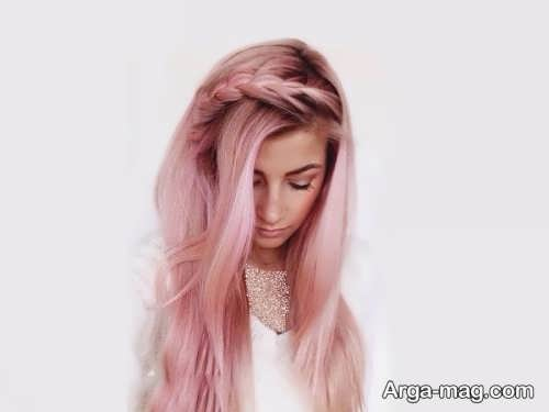 رنگ موی دخترانه پاییزی