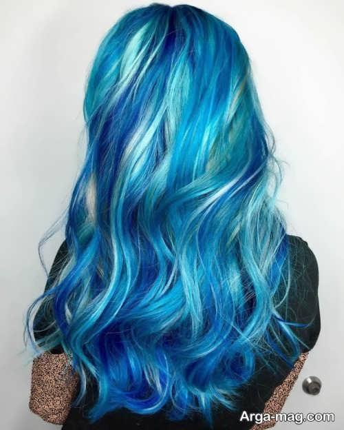 رنگ موی آبی زنانه
