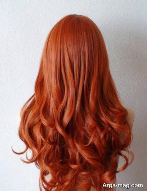 رنگ موی جذاب پاییزی