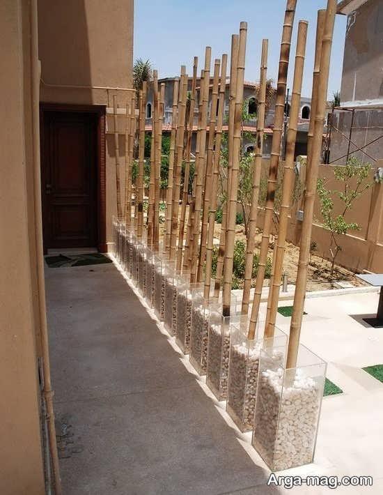 ایده تزیین خانه با چوب بامبو