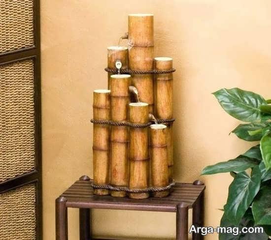 تزیینان شیک خانه با چوب بامبو