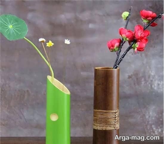 درست کردن گلدان با چوب بامبو
