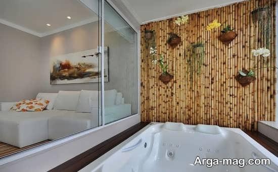 دکوراسیون چوب بامبو در خانه