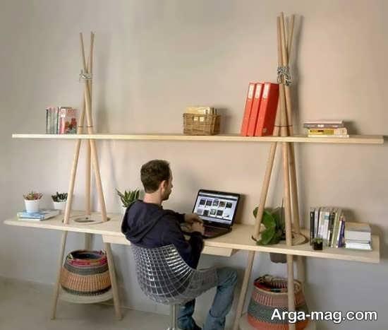 تزیین اتاق با چوب بامبو
