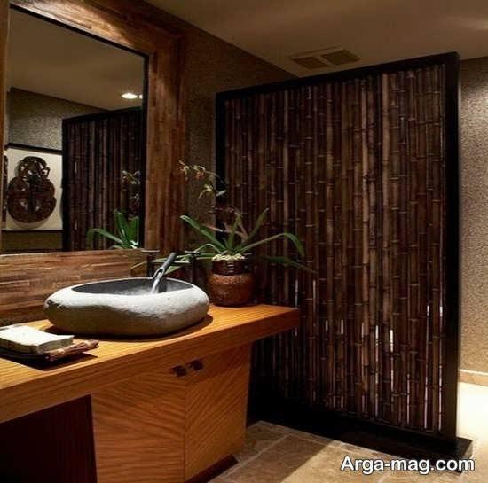 چوب بامبو در سرویس بهداشتی