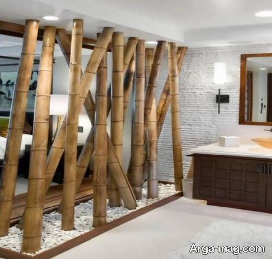 طراحی چوب بامبو در فضای خانه
