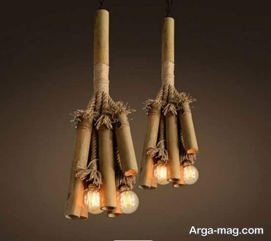 ایده جالب تزیین چوب بامبو