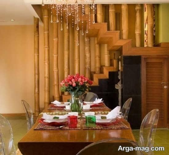 ایده راحت تزیین کردن با چوب بامبو