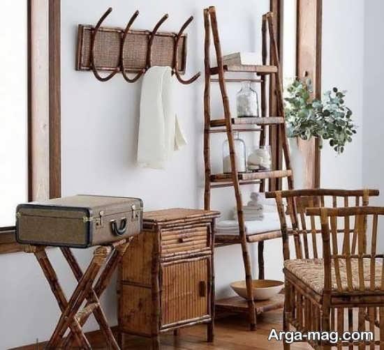 تزیین طبیعی با چوب بامبو