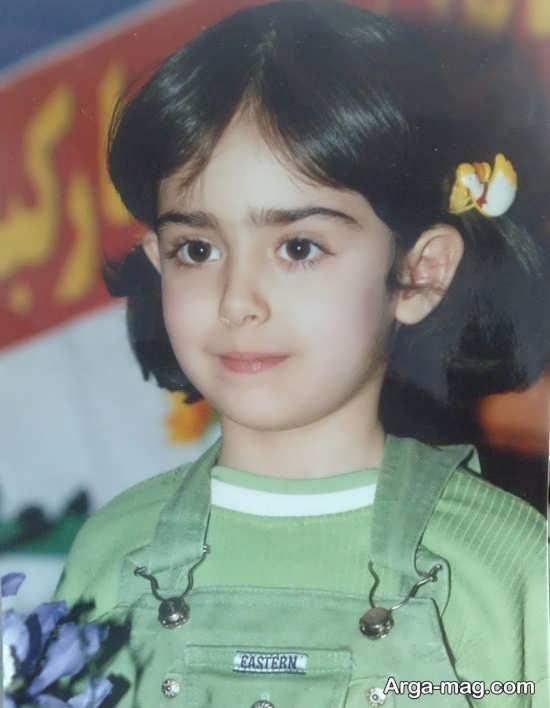عکسی از دوران کودکی هانیه غلامی