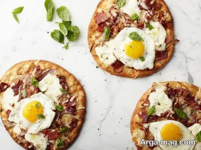 طرز تهیه پیتزا صبحانه