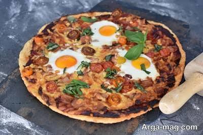 دستور تهیه پیتزای صبحانه