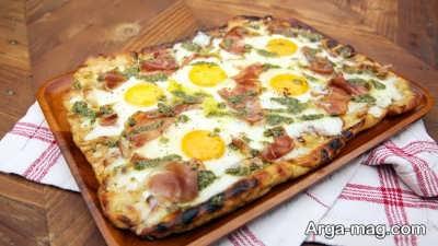 پیتزا صبحانه مقوی