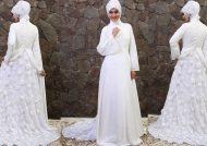 مدل لباس عروس با کلاه