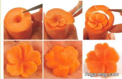 روش هایی برای تزیین هویج