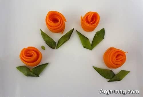 تزیین ساده و زیبا هویج