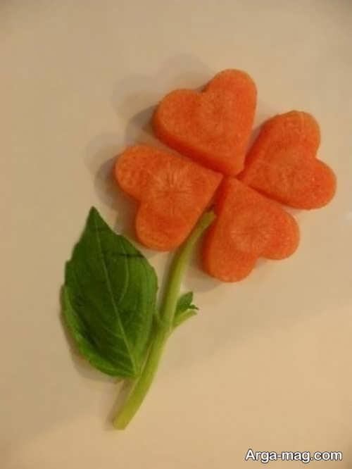 تزیین زیبا و خلاقانه هویج