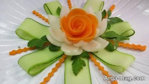 تزیین خیار و هویج