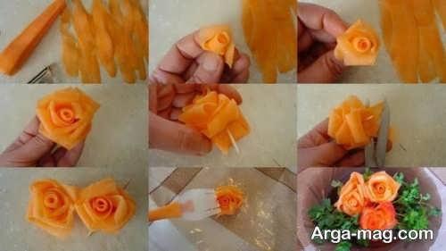 مراحل تزیین کردن هویج