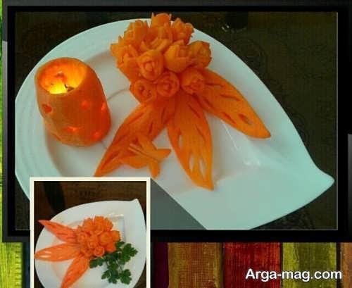 تزیین زیبا هویج