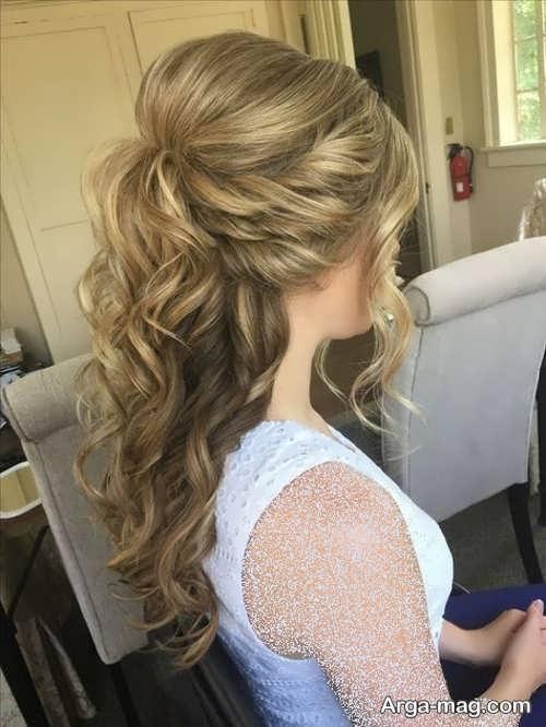 شینیون برای موهای بلند