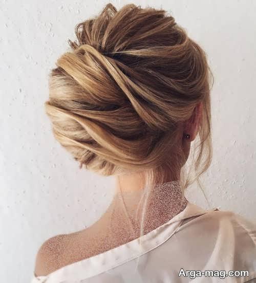 شینیون بسته برای موی بلند