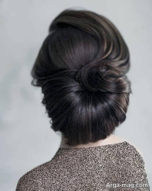 مدل شینیون زیبا برای موی بلند