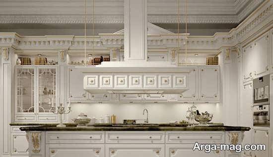 مدل کابینت زیبای کلاسیک سفید