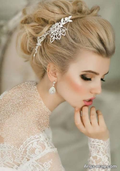 مدل موی بسته با تاج شیک و زیبا