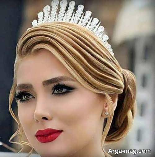 مدل آرایش موی خطی عروس